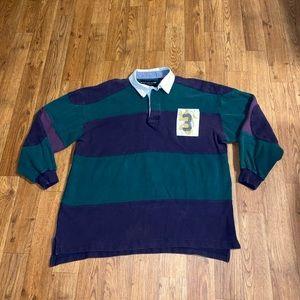 VTG New River Long Sleeve Polo Shirt, Size: Medium